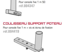COULISSEAUX SUPPORT POTEAU